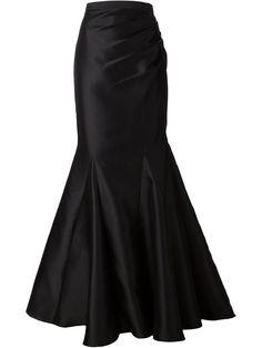 Badgley Mischka Fishtail Maxi Skirt - - Farfetch.com
