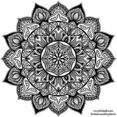 Stipple Mandala 3 By WelshPixie - (welshpixie. Mandalas Painting, Mandalas Drawing, Mandala Artwork, Mandala Coloring Pages, Colouring Pages, Adult Coloring Pages, Coloring Books, Zentangles, Tattoo Painting