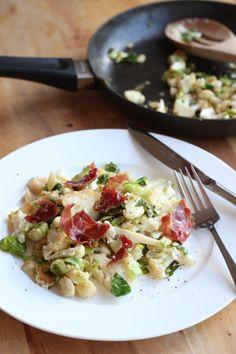 Warm Cauliflower and Prosciutto Salad