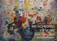 Metachrome (Flowers, after Odilon Redon I), 2016 Archival pigment print 128.3 x 101.6 cm; (50 1/2 x 40 in.) Edition of 6 + 4 AP  METACHROMES VIK MUNIZ展 2016.10.06 - 2016.11.12  #관람시간  11:00am-06:00pm 월-금 10:30am-02:30pm토