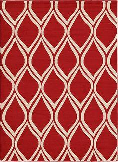 Trellis Red Area Rug
