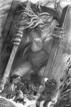 ML cthulhu-hand-luke: Caleb Cleveland Hp Lovecraft, Lovecraft Cthulhu, Cthulhu Art, Call Of Cthulhu Rpg, Arte Horror, Horror Art, Le Kraken, Lovecraftian Horror, Eldritch Horror