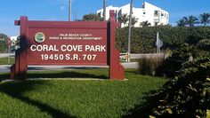 Coral Cove guarded beach park with playground on Jupiter Island Florida