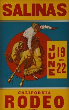 Vintage Salinas California Rodeo Poster