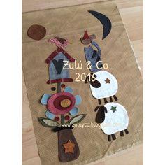 Zulu and Co : y Julieta, es el sol! Wool Applique, Applique Patterns, Quilt Patterns, Applique Ideas, Anni Downs, Sheep Art, Fabric Cards, Country Crafts, Mini Quilts