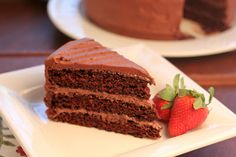 That skinny chick can bake!!!: Triple Layer Chocolate Cake~