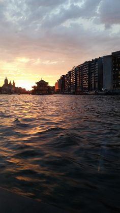 @EttingerLondon #mycolourofsummer sunset in amsterdam