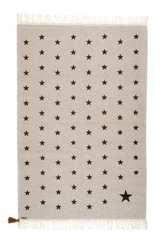 Tapis Etoiles collection Gypsy. Tissage Kilim. Fabrication traditionnelle. 100% laine ou 100% coton. 100X150 cm ou 150X200 cm