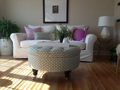A Custom Designed Ottoman - Your Fabric, Your Style... by Custom Ottoman Designs on Etsy, $220.00