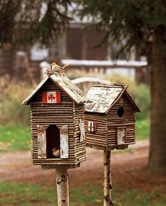 twig covered birdhouse too cute