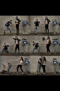 Too funny!  Pregnancy progression picture!