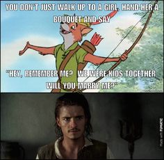 Robin Hood and Will Turner trying to get the girl from their childhoods.