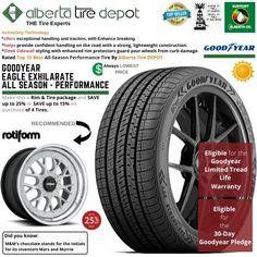 Goodyear EAGLE EXHILARATE All Season Performance Tire 215/45ZR17 XL 91W Rotiform Wheels Goodyear Eagle, Service Map, Performance Tyres, Wheels, Seasons, Seasons Of The Year