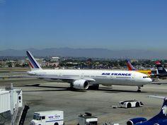 Air France B 777 LAX Boeing 777, Air France, International Airport, Airplanes, Aviation, Aircraft, Future, Planes, Future Tense