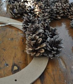 Fall Pinecone Wreath tutorial  Easy base to glue onto