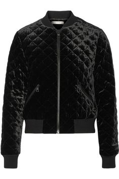 ALICE AND OLIVIA Demia quilted velvet bomber jacket. #aliceandolivia #cloth #jackets