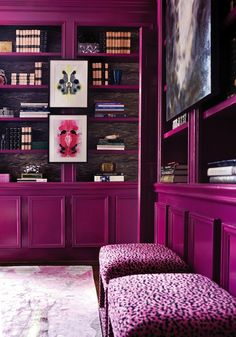 Atlanta Homes & Lifestyles: Lindsey Coral Harper - Incredible jewel tone library with Inkblot Carpet from Doris ...