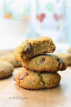 Grain-Free Pumpkin Chocolate Chip Cookies {Gluten-Free, Paleo-Friendly, Vegan} | cHowDivine.com