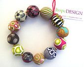 Signature No.69 Bracelet in Polymer Clay Chic and Original for Mothers DAy Present under 55 USD