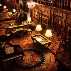 Castles & Manor Houses | thesixthduke:   The always amazing library at...
