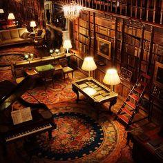 "thesixthduke: "" The always amazing library at Chatsworth House, Derbyshire. """