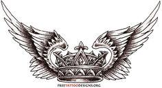 Wings crown tattoo tattoos
