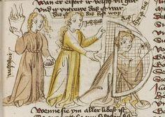 Thomasin <Circlaere>   Welscher Gast (b) Nordbayern (Eichstätt?), um 1420 Cod. Pal. germ. 330 Folio 14r