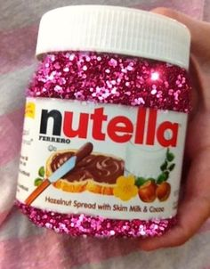 QOTD: How do you prefer to eat your Nutella? I like to lightly toast some bread,… QOTD: How do you prefer to eat your Nutella? I like to lightly toast some bread, add the Nutella, and fold it in half for a mini sandwich :] Pink Love, Pretty In Pink, My Favorite Color, My Favorite Things, Rainbow Food, Pink Foods, Weird Food, Everything Pink, Pink Glitter
