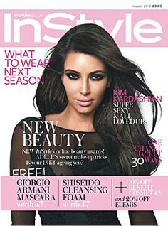 Kim Kardashian talks Kanye and plastic surgery in InStyle U.K.'s August cover story.
