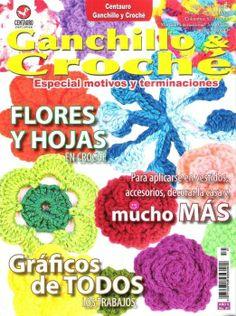 image host - ganchillo e croche - flores y hojas - flower book