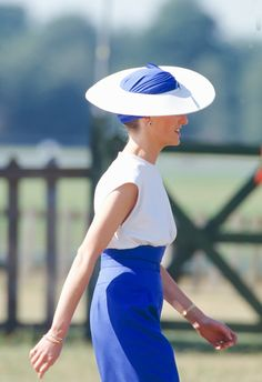 Diana Princess of Wales attends Smiths Lawn Polo Windsor after The Royal Ascot race meeting on June 20 1989 in Ascot United Kingdom