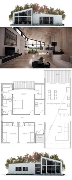 Revêtue du0027agrégat et de bois, cette maison à étage à lu0027architecture - plans de maison moderne
