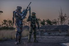 My friends and I build and wear Halo SPARTAN armor here in Australia. Here's a shot of us from the other night.