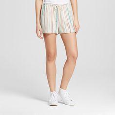 Women's Baja Linen Short - Mossimo Supply Co. Multi Stripe Xxl
