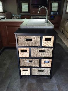 THIS IS FOR CAMPER/RV USE ONLY...  NO SPACE IN THE CAMPER BEDROOM AREA... NO PROBLEM JUST FIND A SMALL DRESSER OR A CUBE ORGANIZER TO STORE YOUR CLOTHES IN  YOU MIGHT HAVE TO PLACE THIS IN THE LIVING ROOM AREA DEPENDING ON THE SIZE OF YOUR CAMPER