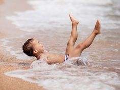 Boy Enjoy Beach Bathing