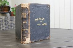 Antique Book, Oracle of the Age by WM. M. Thayer, 1895, Black Leather Book, Gilt Lettering, Vintage Book, Antique Leather Book, Black Gold by CarisHome on Etsy