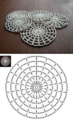 25 Delicados Posavasos Tejidos a Crochet con Patrones