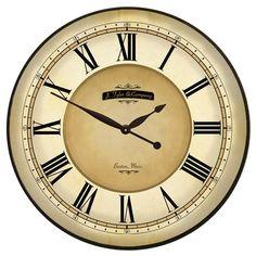 "18"" can be customized  http://www.clocksaroundtheworld.com/medium-clocks.html"