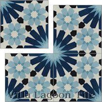 """""""Tangier Blues"""" Cement Tile"""