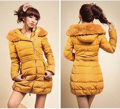 winter woman down rabbit fur collar long coat down jacket women excellent quality clothing