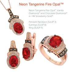 """Neon Tangerine Fire Opal™ stands out in 2013 fine jewelry."" Eddie LeVian, Designer & CEO"