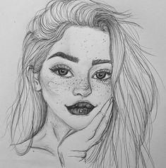 Hair Pretty Drawings, Beautiful Drawings, Amazing Drawings, Art Boards, Tumblr Drawings, Cool Drawings, Drawing Sketches, Sketching, Sketch Inspiration