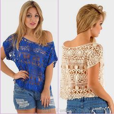 Cheap Blouses & Shirts, Buy Directly from China Suppliers:   2015 Spring Summer Women Fashion Lace Blouses Hollow Out Shirts Casual White Chiffon Tropical Tops Camisas Blus