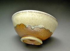 Small Brown and Orange Wood Fired Soup Cereal or by MBrownCeramics, $20.00