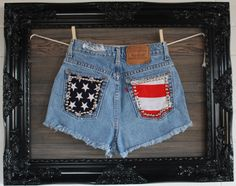 Vintage High Waisted Levi Shorts With Studded by VagrantVintageCo, $50.00