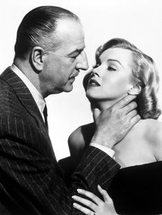"Louis Calhern, Marilyn Monroe, ""The Asphalt Jungle""  directed by John Huston 1950."