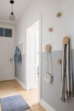 Bedroom Door Design, Bedroom Doors, Wooden Bedroom, Ikea Bedroom, Bedroom Furniture, Half Painted Walls, Ikea Built In, Flur Design, Diy Design