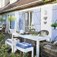 Touch of Blue French Style Lunch Corner