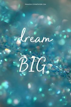 Dream Big, don't stop and don't let anyone or anything get in your way. #femalesinbusiness #dream #success #femalesuccessnetwork